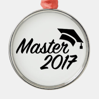Master 2017 metal ornament
