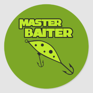Master Baiter Fishes By Himself Classic Round Sticker