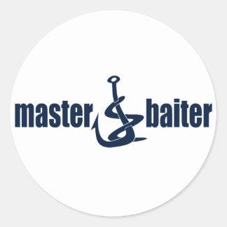 Master Baiter Round Sticker