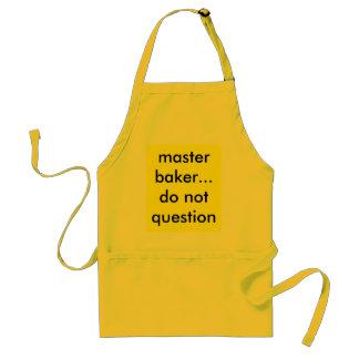 master baker...do not question standard apron