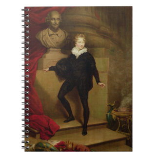 Master Betty as Hamlet before a bust of Shakespear Spiral Notebooks