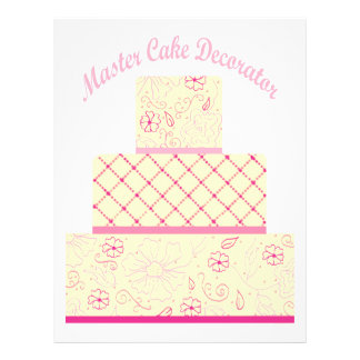 master cake decorator flyer design
