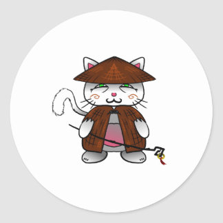Master cat round sticker