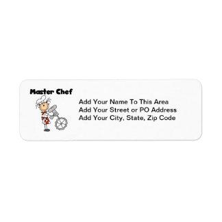 Master Chef - Female Return Address Label