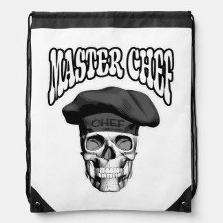 Master Chef Skull v3 Cinch Bag