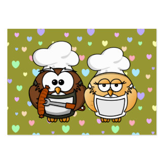 master chefs owl large business card