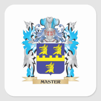 Master Coat of Arms - Family Crest Square Stickers