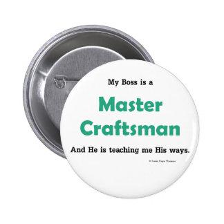 master craftsman pinback button