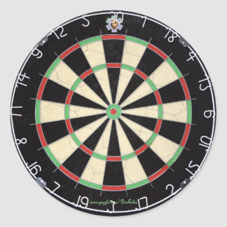 Master Dart Board Stickers