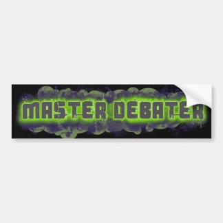 Master Debater Bumper Sticker