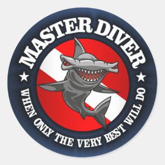 Master Diver (Hammerhead) Round Sticker
