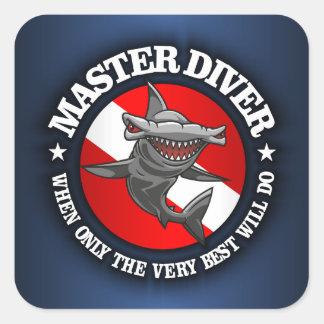 Master Diver (Hammerhead) Square Sticker