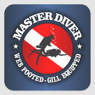 Master Diver (Medallion) Square Sticker