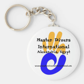 Master Divers International keyring Basic Round Button Keychain
