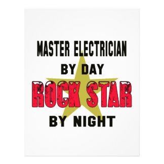 Master Electrician by Day rockstar by night Custom Letterhead
