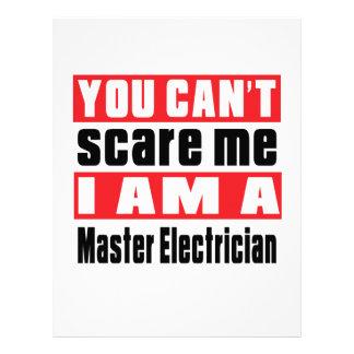 Master Electrician scare designs Customized Letterhead