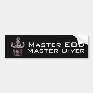 Master EOD Master Diver Car Bumper Sticker