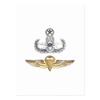 Master EOD Parachutist Postcard