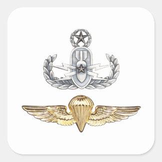 Master EOD Parachutist Square Sticker