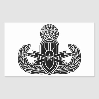 Master EOD stencil Rectangle Stickers