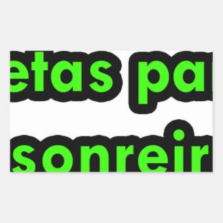 Master frases 10 rectangular stickers