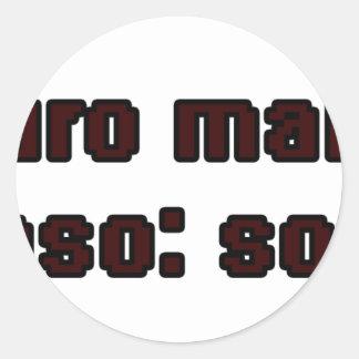 Master frases 2 . round sticker
