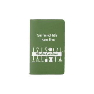 Master Gardener Simple Modern Forest Green Custom Pocket Moleskine Notebook