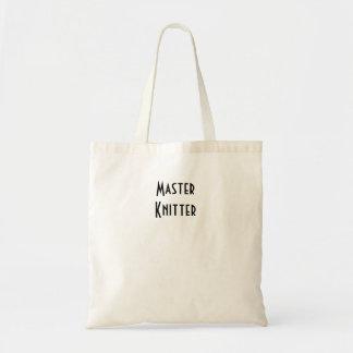 Master Knitter Budget Tote Bag