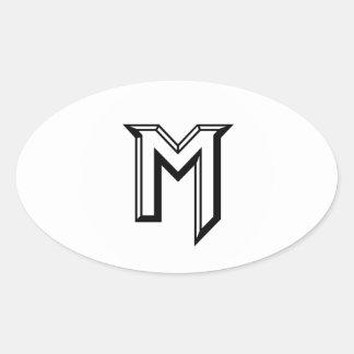 Master M Logo Oval Sticker