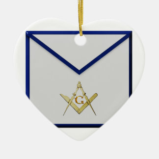 Master Mason Apron Ceramic Ornament