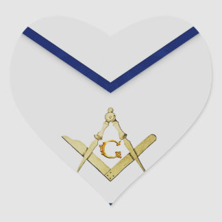 Master Mason Apron Heart Sticker