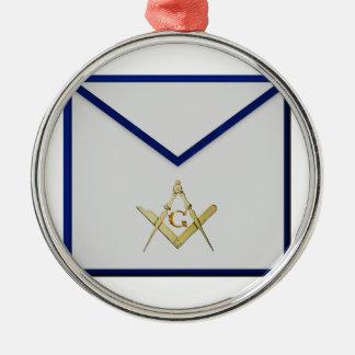 Master Mason Apron Metal Ornament
