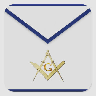 Master Mason Apron Square Sticker