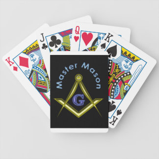 Master Mason (in black) Bicycle Playing Cards