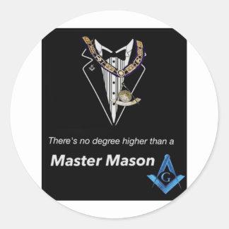 Master Mason Round Sticker