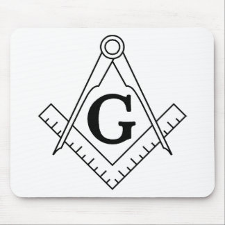 Master Mason Square and Compass Mouse Pad
