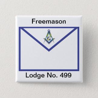 Master Masons Apron 2 Inch Square Button