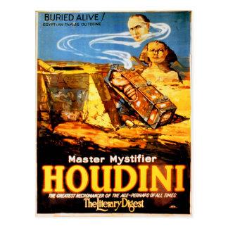 Master mystifier Houdini Rare Vintage Postcard