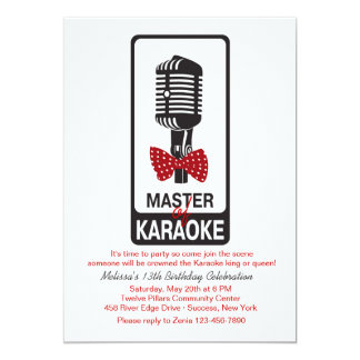 Master of Karaoke Birthday Party Invitation