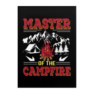 Master Of The Campfire Funny Camping Shirt Acrylic Wall Art