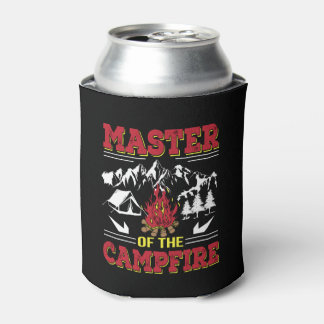Master Of The Campfire Funny Camping Shirt Can Cooler