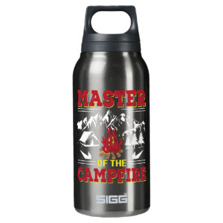 Master Of The Campfire Funny Camping Shirt Insulated Water Bottle