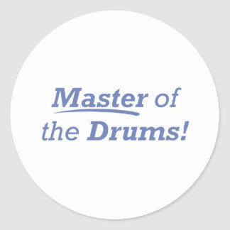 Master of the Drums! Classic Round Sticker
