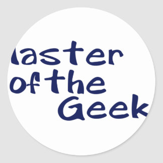 Master of the geeks round sticker