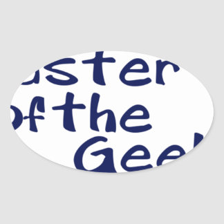 Master of the geeks sticker