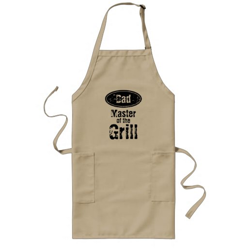 Master of the grill BBQ apron for dad