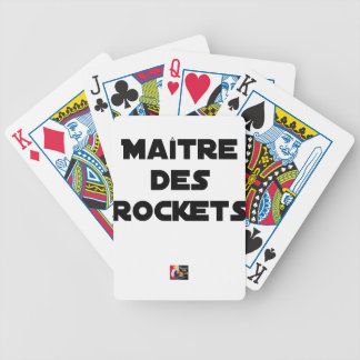 MASTER OF the ROCKETS - Word games - François City Bicycle Playing Cards