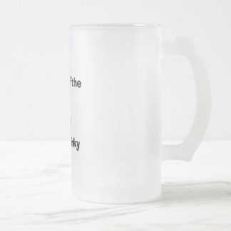"""Master of the stinky slinky "" frosted mug"
