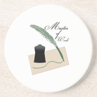 Master Of Words Coaster