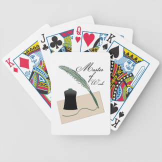 Master Of Words Bicycle Playing Cards